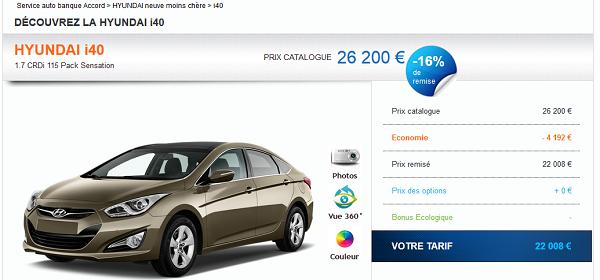 achat prix négocié automobile accord