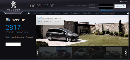 clic peugeot achat voitures collaborateurs. Black Bedroom Furniture Sets. Home Design Ideas