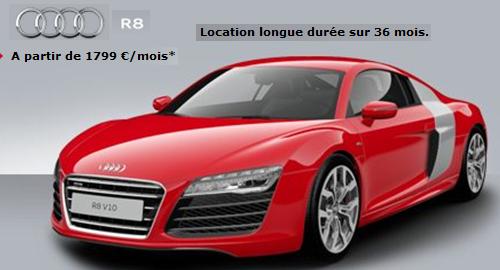 crédit LOA Audi R8