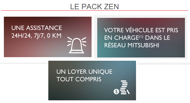 pack zen loa Mitsubishi Motors