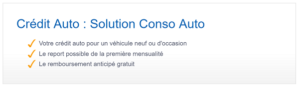 Solution conso auto LCL